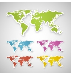 colorful globe map sticker vector image