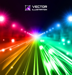 colorful night road vector image