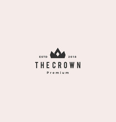 crown king logo icon vector image