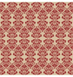 damask style wallpaper vector image