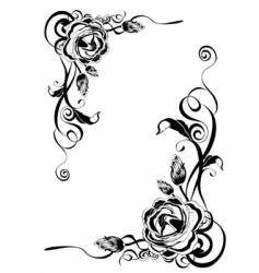 Decorative roses vector