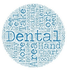 Dental Assistants in Orthodontics text background vector image