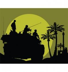 desert night patrol vector image