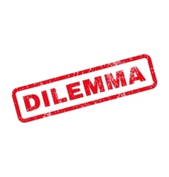 Dilemma Text Rubber Stamp vector