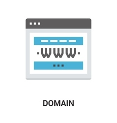 domain icon concept vector image