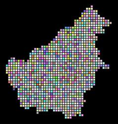 Dot borneo island map vector