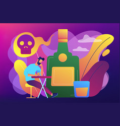 Drinking alcohol concept vector