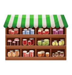 farmer shop berry jam vector image