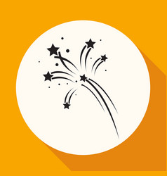 Fireworks rockets sign icon explosive pyrotechnic vector