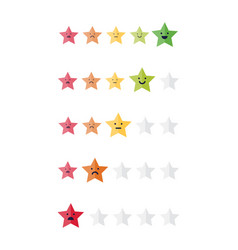 Five stars customer product rating review colorful vector