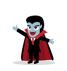 Friendly dracula in cartoon vector