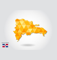 geometric polygonal style map of dominican vector image