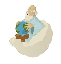 God create the world vector