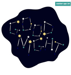 good night starry sign vector image