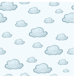 greek cloud tile vector image