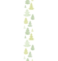 Green Christmas trees silhouettes textile vertical vector