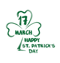 happy st patricks day march 17 vector image
