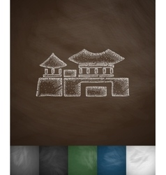 House icon hand drawn vector