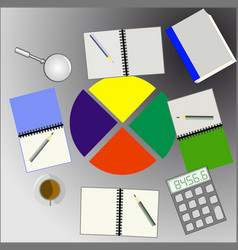 image of group business analysis vector image