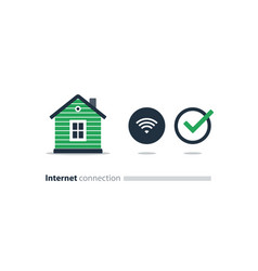 internet access at home wi-fi icon smart solution vector image