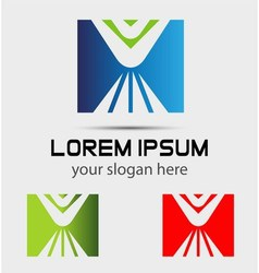 Logo design square element Use in the media mobi vector image