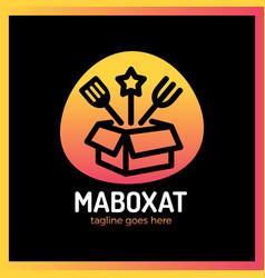 magic food box logo vector image