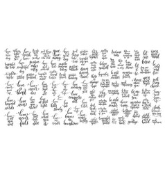 mega set of 100 black and white positive vector image
