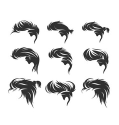 men hairstyles and haircuts isolated vector image