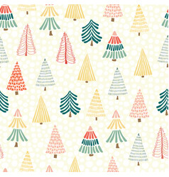 modern doodle christmas seamless vector image