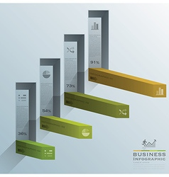 Modern Square Bar Diagram Stair Step Business vector image