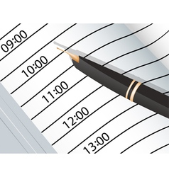 Notebook and ink pens vector image