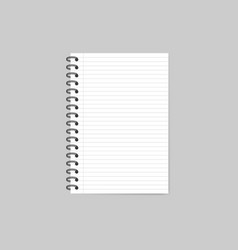 notebook with shadow isolated on grey background vector image