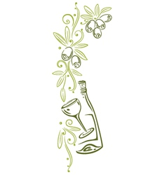Olive vine decoration vector