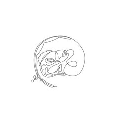 one single line drawing fishing club lover and vector image