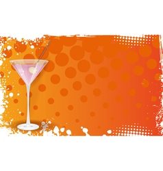 Orange martini banner vector