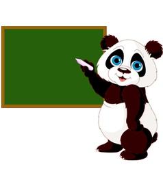 Panda writing on blackboard vector image vector image