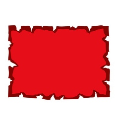 Parchment old paper blank red vector image