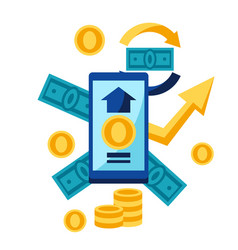 phone and money vector image