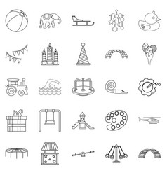 Physical education icons set outline style vector