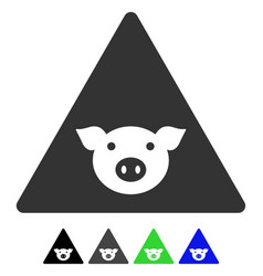 Pig error flat icon vector