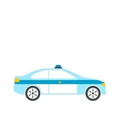 Police sedan flat vector