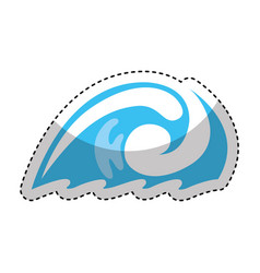 pure water wave emblem isolated icon vector image