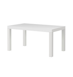Rectangular table mockup vector