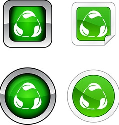 Recycle button set vector