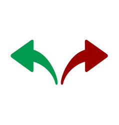 red green left and right arrows opposite vector image