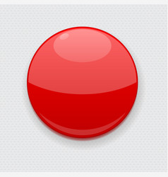 red web button on gray background round 3d icon vector image