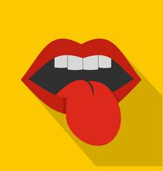 rock emblem icon flat style vector image