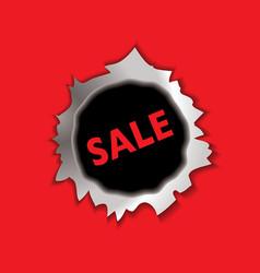 Sale bullet hole vector