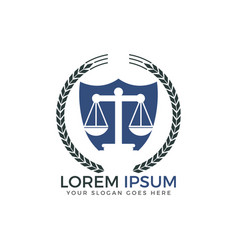 Scale of justice logo design vector