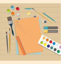 school accessories for art vector image